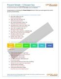 Present Simple - Activity Sheet - 5 (Answer Key)