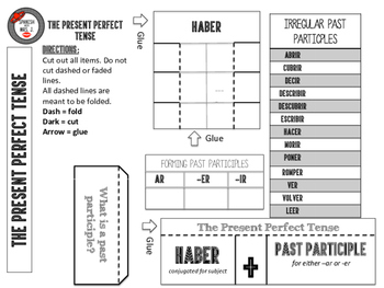 Present Perfect: Spanish Interactive Notebook Page