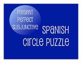 Spanish Present Perfect Subjunctive Circle Puzzle