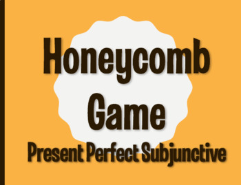 Spanish Present Perfect Subjunctive Honeycomb Partner Game