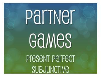 Spanish Present Perfect Subjunctive Partner Games
