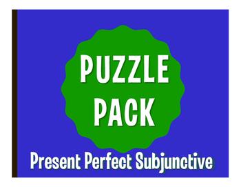 Spanish Present Perfect Subjunctive Puzzle Pack