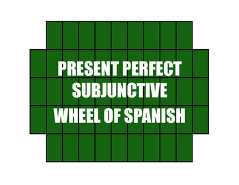 Spanish Present Perfect Subjunctive Wheel of Spanish