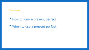 Present Perfect Tense PPT