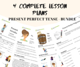 Present Perfect Tense Bundle: 4 Intermediate ESL/EFL Lesson Plans