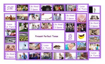 Present Perfect Tense Legal Size Photo Board Game