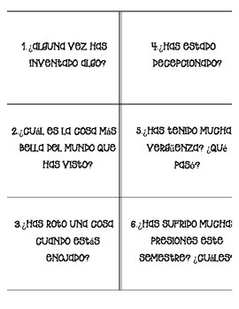 Present Perfect Tense Task Cards