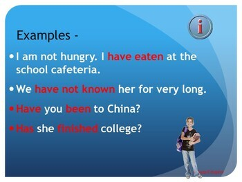 Present Perfect Verb Tenses PowerPoint