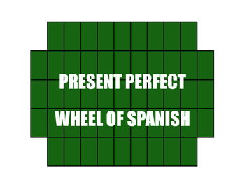 Spanish Present Perfect Wheel of Spanish
