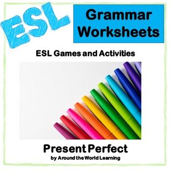 Beginner ESL: Intermediate ESL: Present Perfect Worksheets