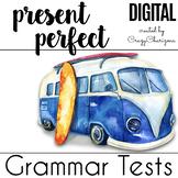 Present Perfect Practice - 10 digital tests