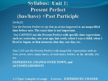 Present Perfect(has/have) +Past Participle