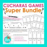 Present, Preterite, Imperfect, & Future ¡Cucharas! Games SUPER BUNDLE