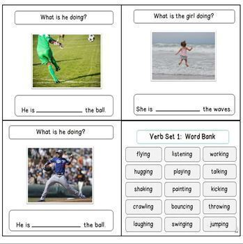 Verb Book, Cards, & Related Activities