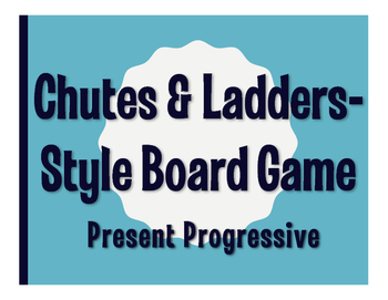 Spanish Present Progressive Chutes and Ladders-Style Game
