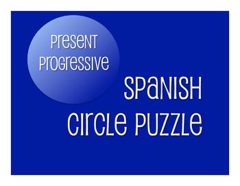 Spanish Present Progressive Circle Puzzle