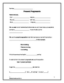 Present Progressive Guided Notes