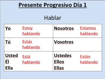Present Progressive--Initial Presentation