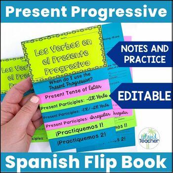 Present Progressive Interactive Flip Book Editable
