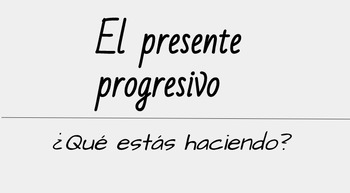 Present Progressive Introduction/Review
