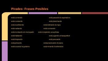 Present Progressive Lesson, Game, Responding Roles