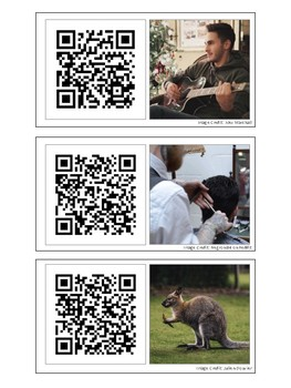 Present Progressive Living Photo QR Code Flashcards