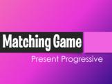 Spanish Present Progressive Matching Game