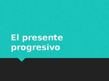 Present Progressive Notes, Power Point & whiteboard practice