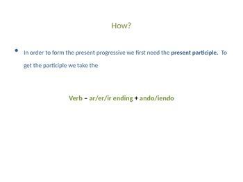 Present Progressive Notes PowerPoint