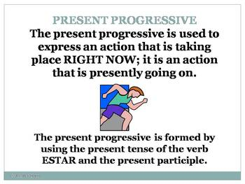 Spanish - Present Progressive Notes PowerPoint