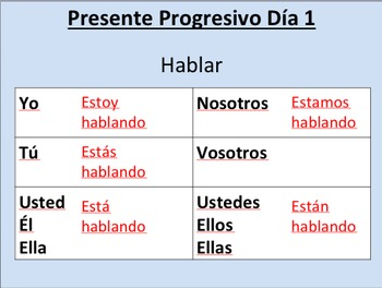 Present Progressive--Pack (initial presentation and error correction story)