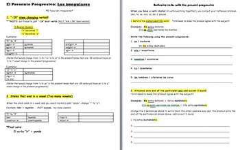 Present Progressive Packet- Intro & Practices (13 Pages)