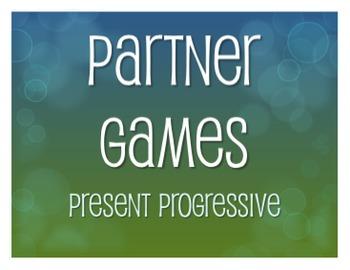 Spanish Present Progressive Partner Games