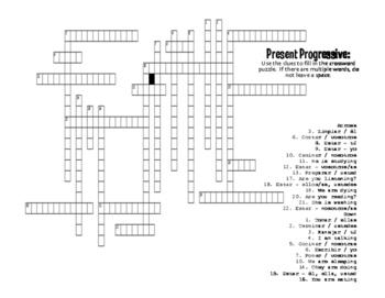 Spanish Present Progressive Puzzle Pack