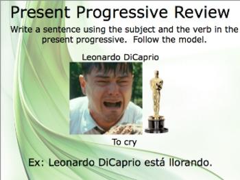 Present Progressive Slideshow Practice (Preview)