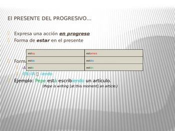 Present Progressive-Spanish