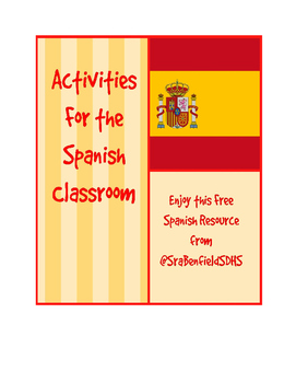 Present Progressive Spanish Writing Activity