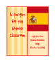 Present Progressive Spanish Writing Activity