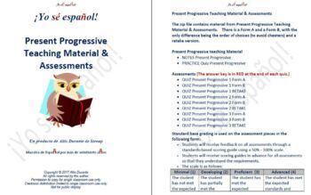 Present Progressive Teaching Material & Assessment
