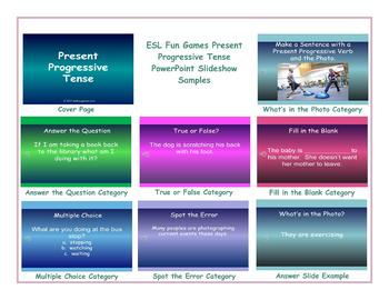 Present Progressive Tense PowerPoint Slideshow