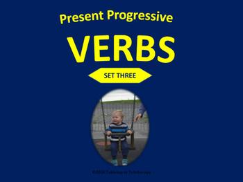 Present Progressive Verbs (Set Three)