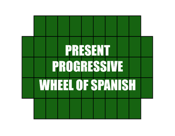 Spanish Present Progressive Wheel of Spanish
