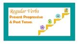 "Regular Verbs - Present Progressive ""-ing"" and Past Tense ""-ed"""