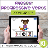 Present Progressive -ing Verbs BOOM CARD™ Deck - Distance