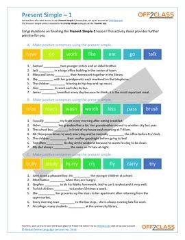 Present Simple - Activity Sheet - 1