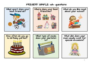 Present Simple Cards