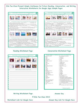 Present Simple-Continuous Read-Converse-Write Worksheet for Google Apps