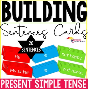 Building Sentences Word Cards Present Simple Tense - ESL Adults