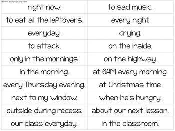 Building Sentences Word Cards Present Simple Tense - ESL Adults
