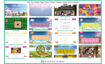 Present Simple Tense Piggy Bank English PowerPoint Game